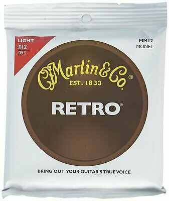 Martin MM12 Retro Monel Acoustic Guitar Strings, Light, 12-54