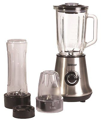 Igenix IG8330 450W 3 In 1 Blender, Grinder & Smoothie Maker Stainless Steel