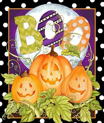 Halloween 66716 Happy Haunting Panel 100% cotton fabric panel](100 Halloween)