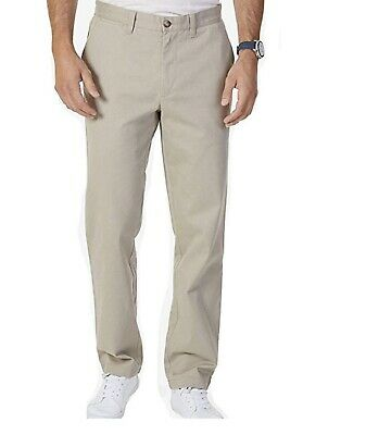 Nautica Men's Stretch Soft Twill, Classic Fit Pants (Khaki, 32x30). Pre-Owned