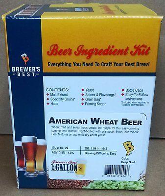 Brewer's Best American Wheat Beer One Gallon Home Brew Beer Ingredient