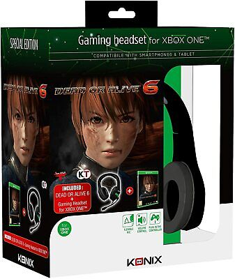 GAMING HEADSET XBOX ONE + DEAD OR ALIVE 6 KONIX CUFFIE +...
