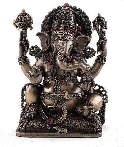 "NEW! 5.5"" Ganesh Lord of Prosperity & Fortune Statue Hindu God Ganesha 1703"