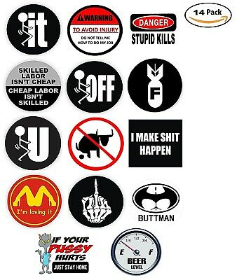Funny Hard Hat Stickers Best Seller 14 Decal Value Pack. Usa Made From He Deals