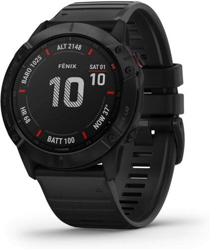 Garmin fenix 6X GPS Multisport Watch Pro - Black w/ Black Band