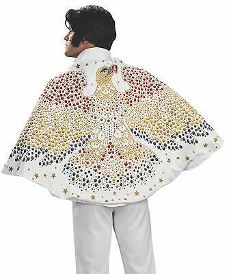 Mens Elvis Costume (Adult Elvis Presley Impersonator Costume Cape One Size Cosplay Apparel Men)
