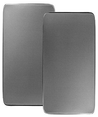 Reston Lloyd Rectangular Stove Burner Covers Stainless Steel Set of 2 New