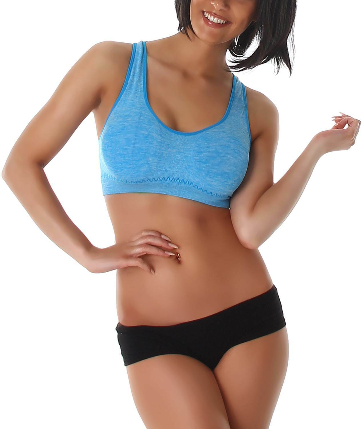 Sport-BH Push-Up Stretch Soft Bustier Top Fitness Yoga Work-Out Cup 60 – 80 B-C