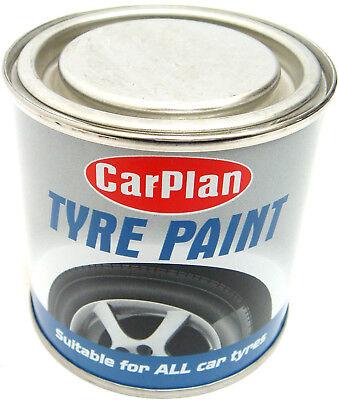 Car Plan Tyre Paint Black Tire Shine Paint Tin Auto Care Cleaning Rubber 250ml