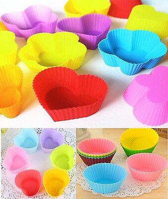 12 Silikon Muffin Mini Backform Neon Cupcake Muffinförmchen Kuchen Muffinform Mini-muffin-form