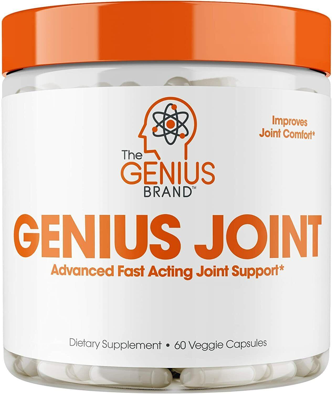 Genius Joint Pain Relief Supplement w/ collagen & turmeric, knee & back support