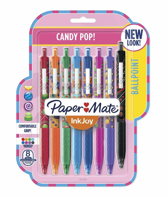 Paper Mate InkJoy 300RT Ballpoint Pens, Medium Point, 1.0mm, Candy Pop, 8 Count