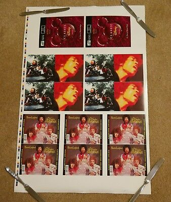 """Jimi Hendrix Experience """"Electric Ladyland"""" cd UNCUT PRINTER PROOF SHEET poster"""