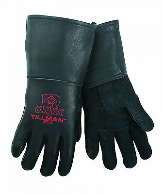 Tillman 875 Medium Stick Welding Gloves Black Onyx Top Grain Elkskin 1 Pair