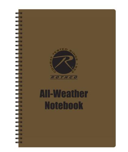 "Coyote Brown All Weather Waterproof Notebook 8.5"" x 11"""