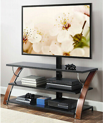 Whalen Payton 3-in-1 Flat Panel TV Stand For TVs Up To 65, Brown Cherry Finish