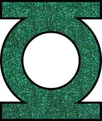 Green Lantern Glitter Logo STICKER - Decal DC Comics Cartoon Boy Offical SE414