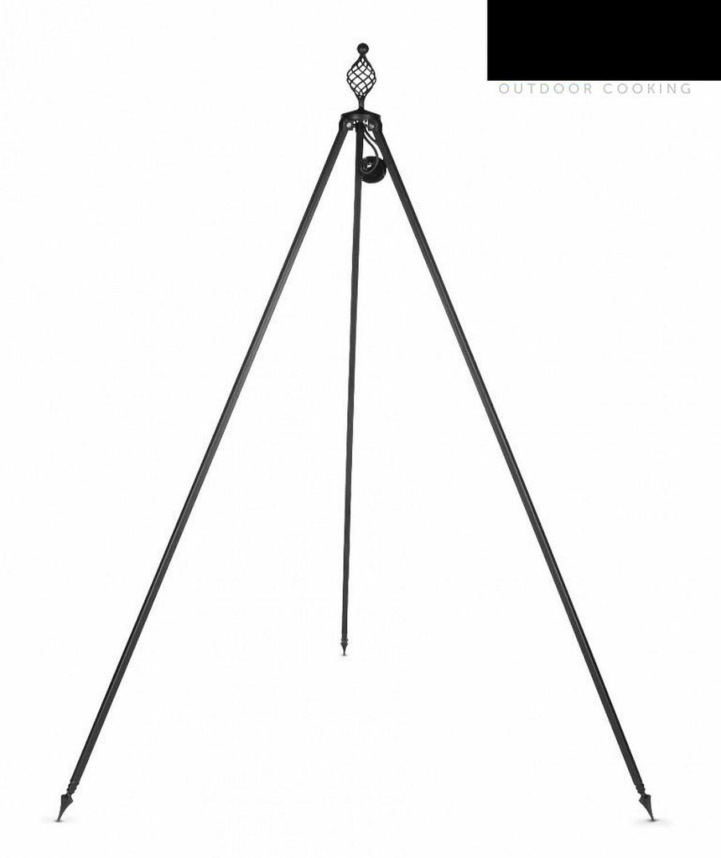 Dreibein inkl. Kette Dreibeingestell Schwenkgrill 210 cm Schmiedeeisen N-DBO