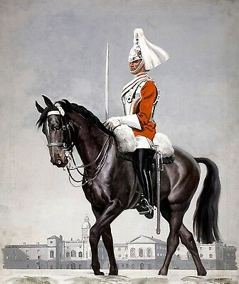 Victorian Soldier (3361.Soldier on horse.Victorian army POSTER.Home Room School Office art)