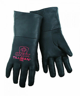 Tillman 44 Mediumtig Welding Gloves Black Onyx Top Grain Kidskin Leather 1pair