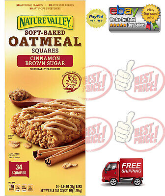 Nature Valley Soft-Baked Oatmeal Squares, Cinnamon Brown Sugar (34 ct.) (Soft Baked Oatmeal)