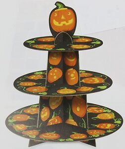3 tier pumpkin halloween cupcake cake stand ideal for for 3 tier pumpkin decoration