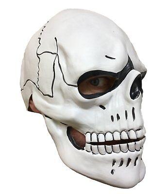 Deluxe Weiß Totenkopf Maske Tag der Toten Spectre James Kostüm Bond Kostüm ()