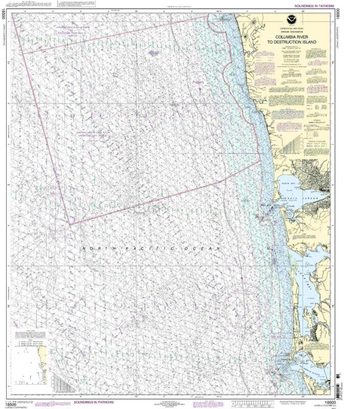 NOAA Chart Columbia River to Destruction Island 30th Edition 18500