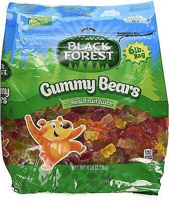 Black Forest Gummy Bears 6lb 2.72kg 5fruit flavor candy Ferrara Pan gummi - Haribo Gummy Bears Flavors