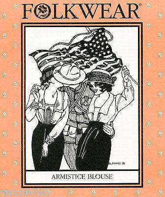 Folkwear Armistice Blouse Sewing Pattern 210 Retro Wwi Era Costume Size S-3xl