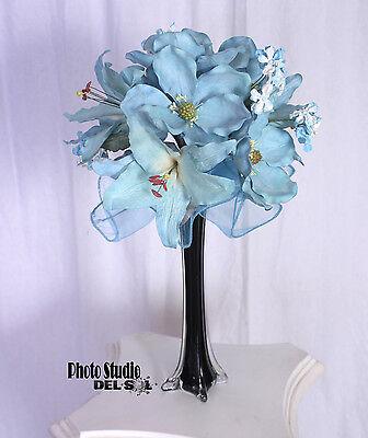 10 Quinceanera Turquoise SWEET SIXTEEN  Centerpiece Flowers WHOLESALE LOT - Sweet Sixteen Center Pieces