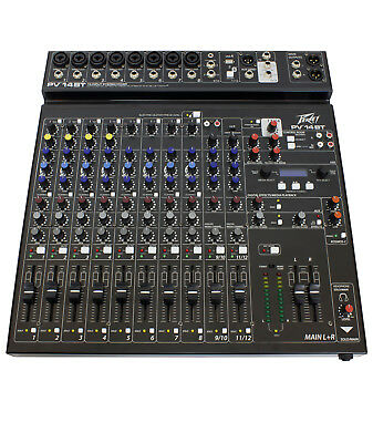Peavey PV14 BT Pro Audio DJ Bluetooth 14 Channel Mixer Ships FREE to ALL US -