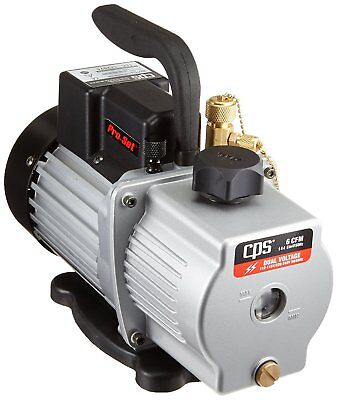 Cps Vp6d Pro-set Vacuum Pump 6cfm 2 Stage Dual Voltage 12hp Motor