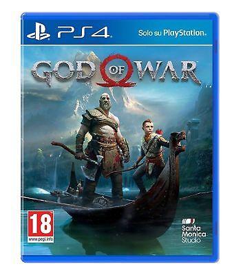 GOD OF WAR PS4 VIDEOGIOCO ITALIANO SONY PLAYSTATION 4 GIOCO PAL NUOVO SIGILLATO