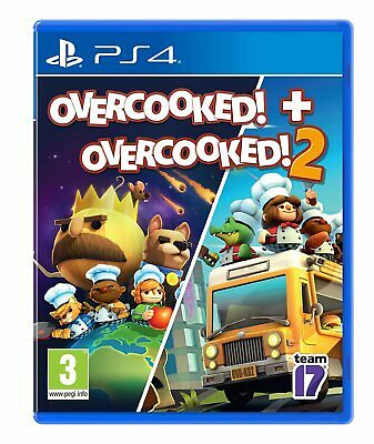 Overcooked 1 and 2 PS4 Brand NEw Factory Sealed PlayStation 4