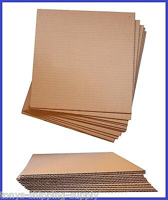 100 Pack Corrugated Cardboard Pad Insert Sheet Divider Small Med. - 17 Sizes