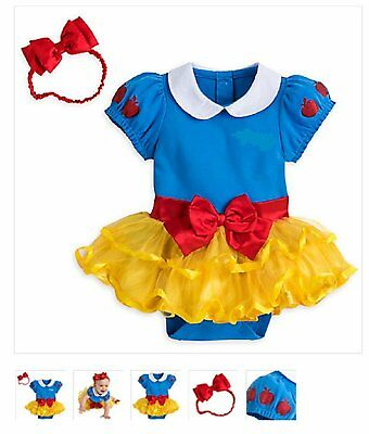 Infant Princess Costume (Disney Store Princess Snow White Baby Girl Costume Bodysuit Size 18/24)
