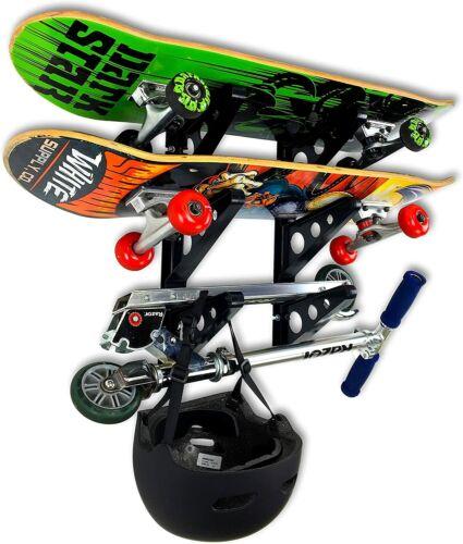 StoreYourBoard Skateboard Rack - 3 Boards, Garage Wall Mounted Board Display