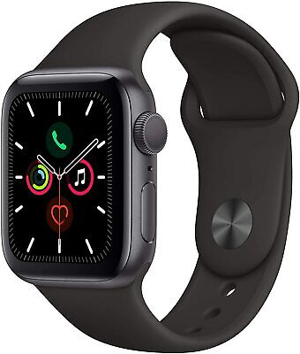 Apple Watch Series 5 (GPS, 40mm) - Space Gray Aluminum Case w/ Black Sport Band