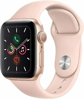 iWatch Series 5 (GPS, 40mm) - Gold Aluminum Case with Pink Sport Band
