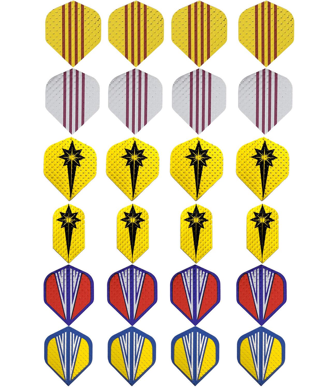 60x Dart Flights 20 Sets Gemischter Typ Farbige Darts Flug YR