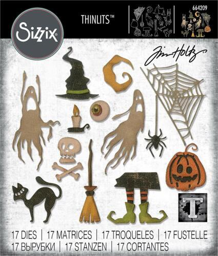 Tim Holtz Sizzix Thinlits Halloween Steel Dies - Frightful Things - #664209