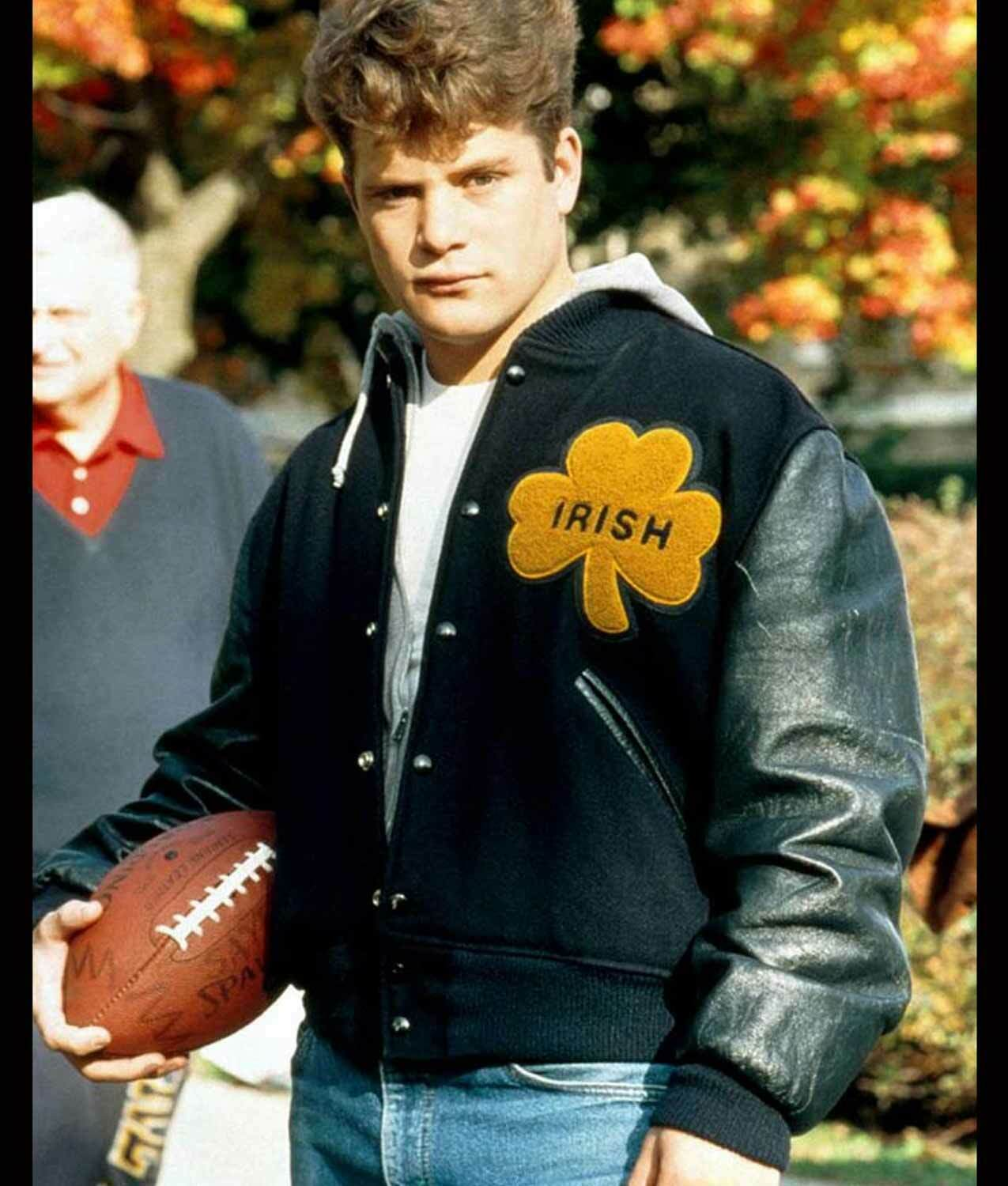 University Of Notre Dame Rudy Irish Wool & REAL Leather Slee