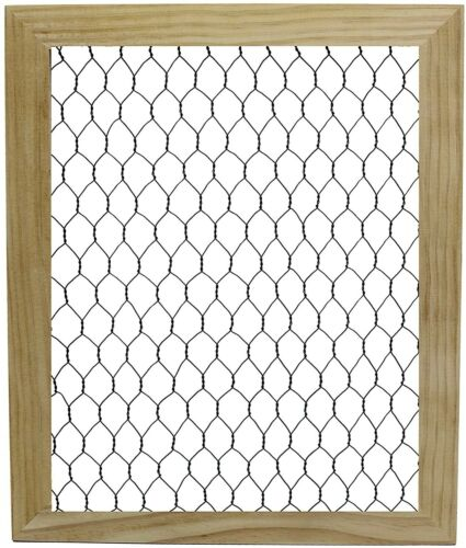 2 Pack - Wood Chicken Wire Frame, DIY Decorate, Add Photos, Collages, Decor