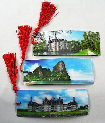 European Castles - Chateau Chambord & Rock - 3D Lenticular  - 3 Bookmarks