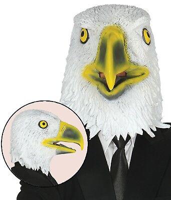 Herren Damen Adler Vogel Gummi Gesichtsmaske Halloween Kostüm Kleid - Herren Kostüm Adler