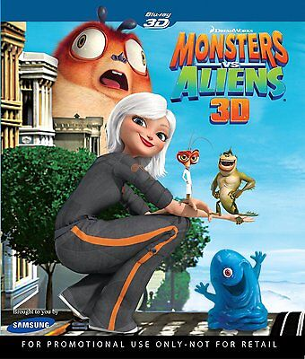 Monsters Vs  Aliens 3D Blu Ray   New   Sealed   Animation   Anime  Region A 1