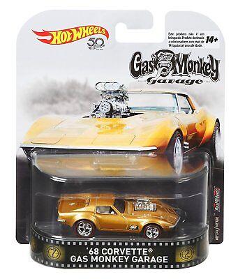 2018 Hot Wheels 1:64 Retro Entertainment '68 Corvette Gas Monkey Garage Diecast