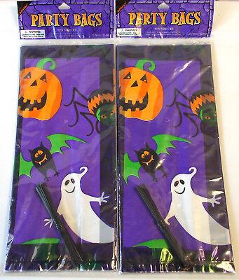 Cellophane Halloween Pumpkin Ghost Bat Spider Party Treat Bag Lot 40 NIP