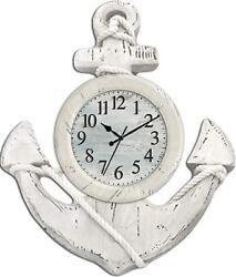 Ashton Sutton - CX1435 - 13 Quartz Analog Anchor Wall Clock - READ
